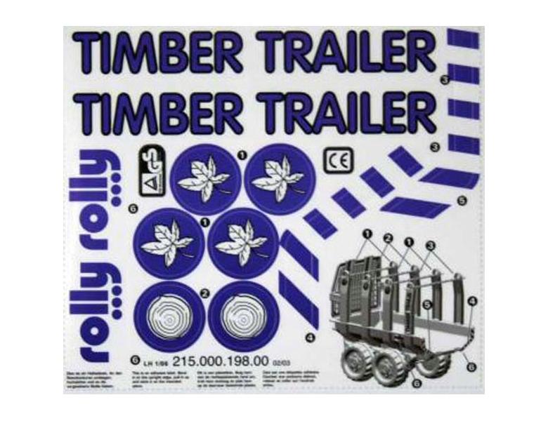 rollytoys aufkleber f r timber trailer fahrzeuge ersatzteile. Black Bedroom Furniture Sets. Home Design Ideas