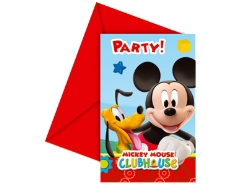 6 Einladungs-Sets Mickey Mouse