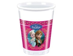 8 Plastikbecher 200ml Frozen