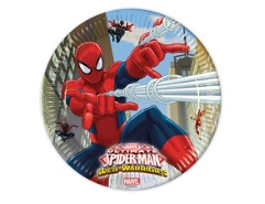 8 Teller Spiderman aus Karton