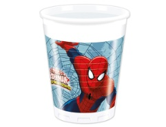 8 Plastikbecher Spiderman