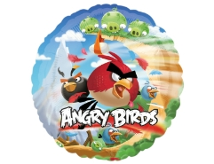 amscan folienballon angry birds rund kindergeburtstag. Black Bedroom Furniture Sets. Home Design Ideas