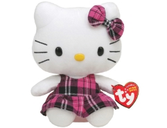 Hello Kitty Schottenrock Pink 15cm