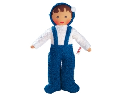 Frottee Baby Blau/Weiss 30cm