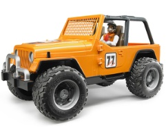 Jeep Cross Country Racer mit Rennfahrer Orange