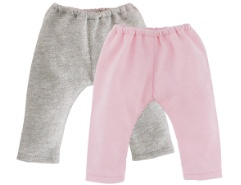 Set Leggings Grau/Pink 36cm