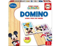 Holz-Domino Mickey Mouse