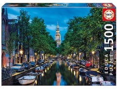 Amsterdam Canal at Dusk 1500Teile