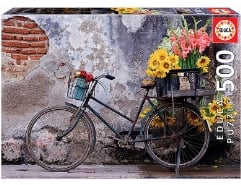 Bicycle with flowers 500Teile