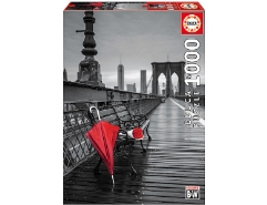 Red Umbrella, Brooklyn Bridge 1000Teile