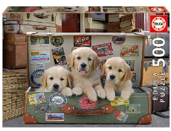Puppies in the Luggage 500Teile