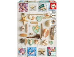 Seashells Collage 1000Teile
