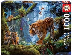 Tigers In The Tree 1000Teile