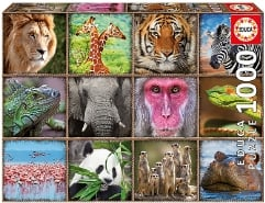 Wild Animals Collage 1000Teile