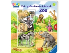 Mein grosses Puzzle-Spielbuch Zoo