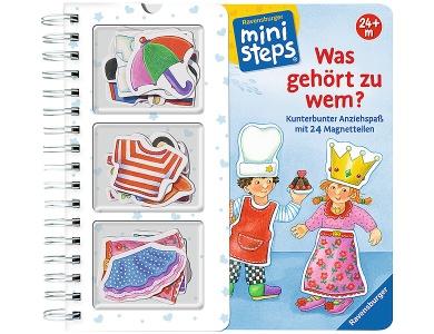 kleiner Traktor 04084 Ravensburger ministeps Buch Räder-Rasselbuch Fahr los
