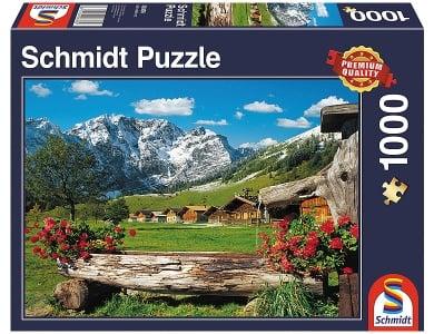 Schmidt 58323 1500 Teile Puzzle Dolomiten Segantinihütte