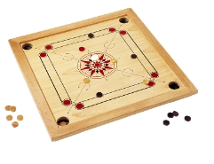 Carrom Gross inkl. Spielsteine