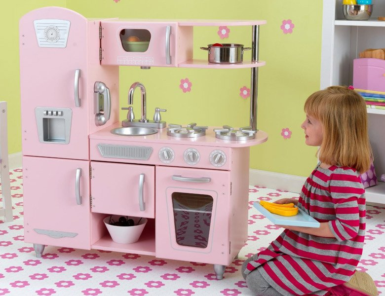 kidkraft pink retro k che. Black Bedroom Furniture Sets. Home Design Ideas