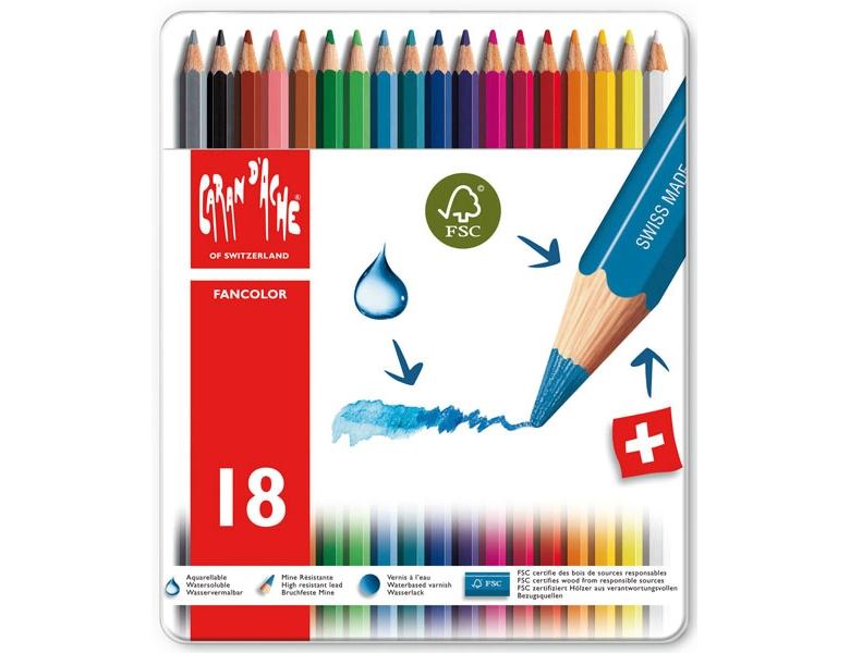 Caran d/´Ache Kreide 40 Farben