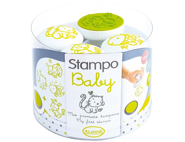 Aladine Stampo Baby Haustiere 4Stempel
