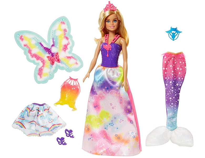 Barbie Dreamtopia 3-in-1 Fantasie Puppe