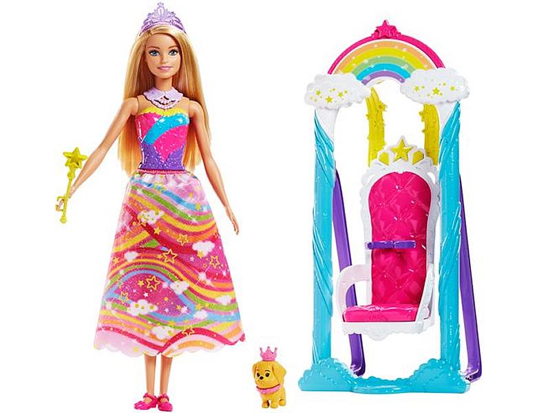barbie dreamtopia prinzessinnen schaukel puppe modepuppen. Black Bedroom Furniture Sets. Home Design Ideas
