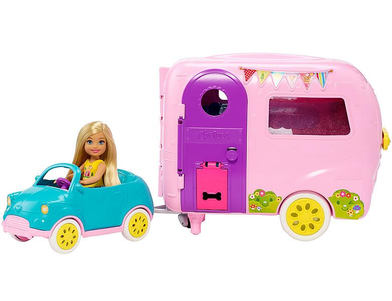 barbie fahrzeuge chelsea camper puppenzubeh r. Black Bedroom Furniture Sets. Home Design Ideas