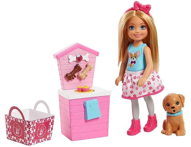 barbie chelsea puppe mit h ndchen stand modepuppen. Black Bedroom Furniture Sets. Home Design Ideas