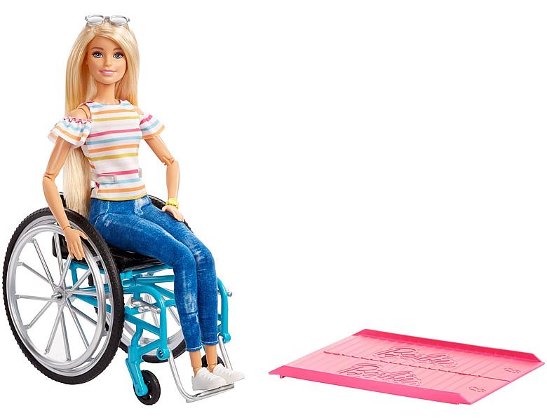 barbie familie freunde puppe im rollstuhl blond modepuppen. Black Bedroom Furniture Sets. Home Design Ideas