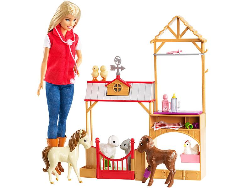 barbie spass auf dem bauernhof spielset modepuppen. Black Bedroom Furniture Sets. Home Design Ideas