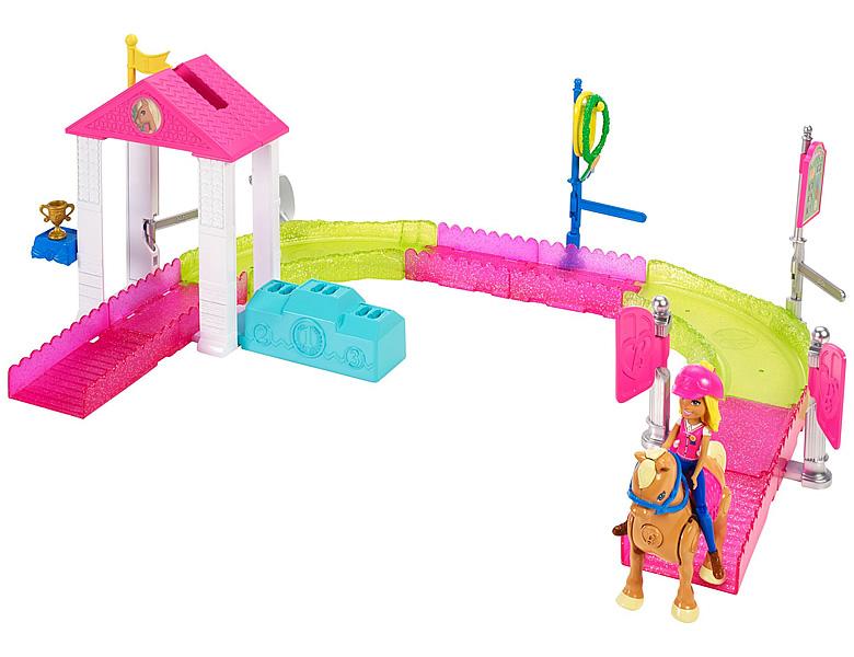barbie on the go pony rennen spielset spielesets. Black Bedroom Furniture Sets. Home Design Ideas