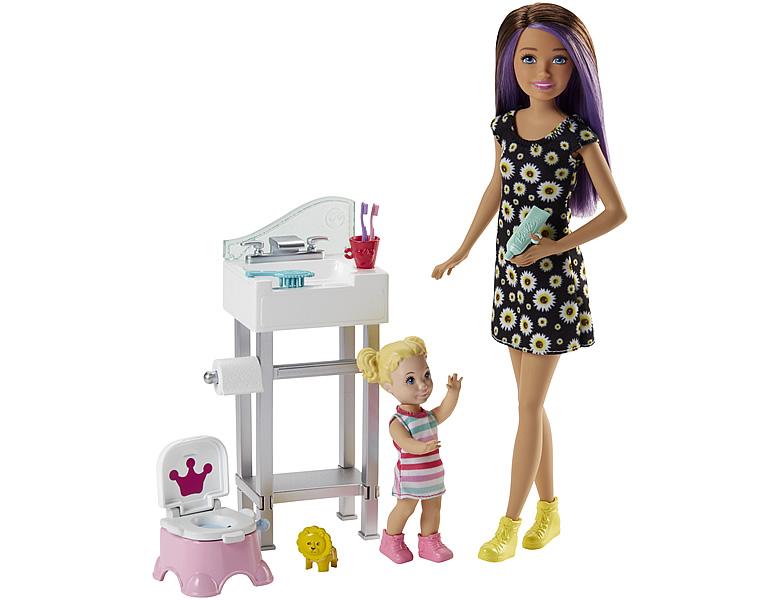 barbie skipper babysitters inc puppe und t pfchen. Black Bedroom Furniture Sets. Home Design Ideas