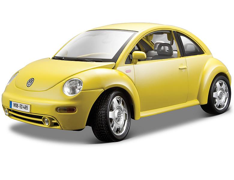 bburago 1 18 vw new beetle 1998 gelb die cast modelle. Black Bedroom Furniture Sets. Home Design Ideas