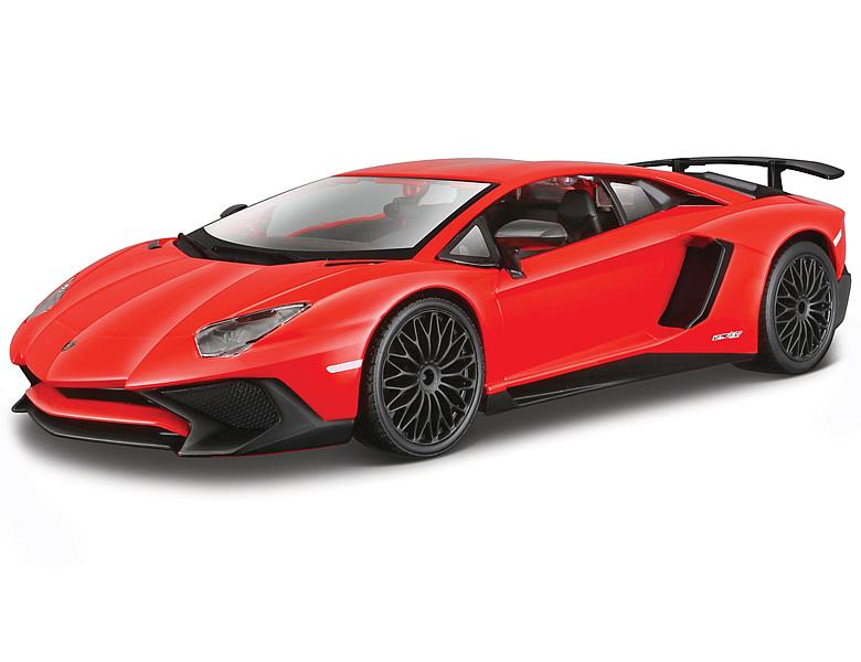 Bburago 1 24 Lamborghini Aventador Lp750 4 Sv Rot Die Cast Modelle