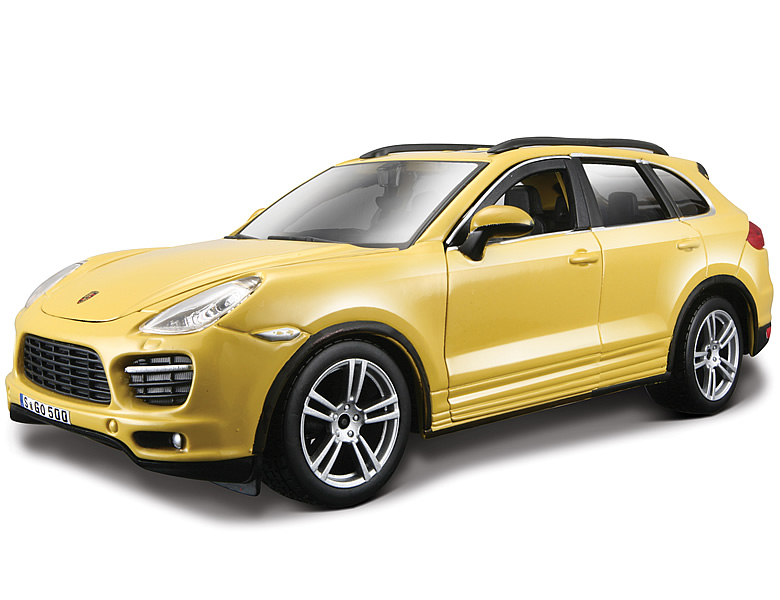 bburago 1 24 porsche cayenne turbo gelb die cast modelle. Black Bedroom Furniture Sets. Home Design Ideas