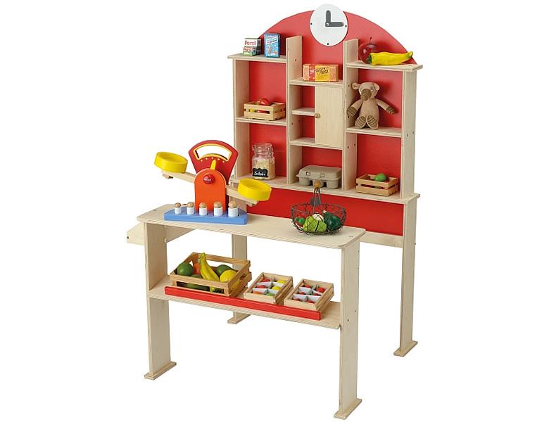 beluga kaufladen holz mit uhr ohne zubeh r. Black Bedroom Furniture Sets. Home Design Ideas