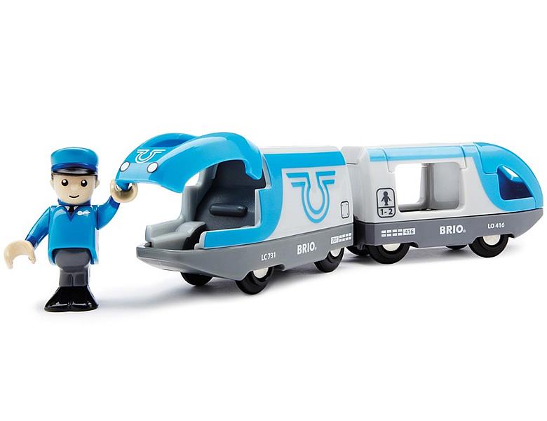 Blauer Reisezug batteriebetrieben