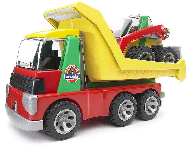 Bruder roadmax transporter mit kompaktlader spielzeugautos