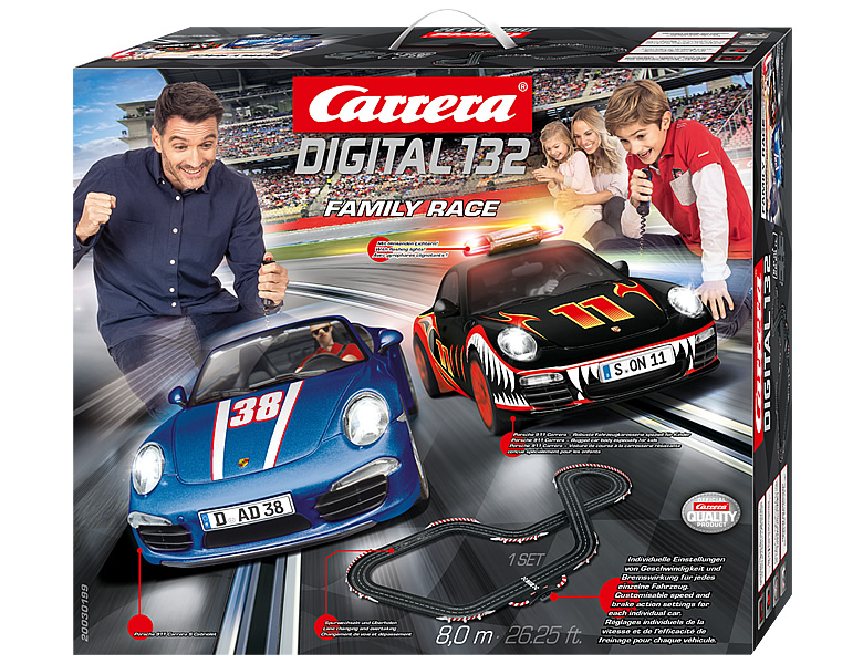 carrera digital 132 family race 8m porsche rennbahn sets. Black Bedroom Furniture Sets. Home Design Ideas