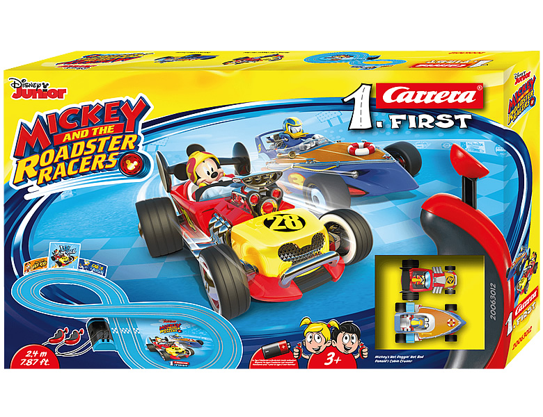Carrera Mickey Mouse First Mickey and the Roadster Racers 2,4m
