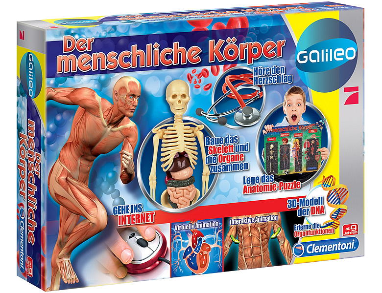 Clementoni Galileo Der menschliche Körper | Entdecken