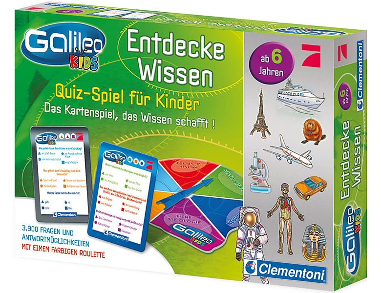 clementoni galileo kids wissens quiz f r kinder wissenspiele. Black Bedroom Furniture Sets. Home Design Ideas