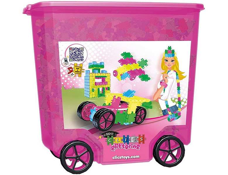 Clics Glitter Rollerbox 24-in-1 800Teile