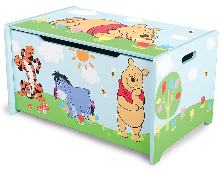 delta children winnie pooh spielzeugkiste holz kinderm bel. Black Bedroom Furniture Sets. Home Design Ideas