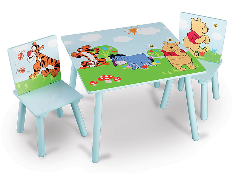 delta children winnie pooh tisch st hle kinderm bel. Black Bedroom Furniture Sets. Home Design Ideas