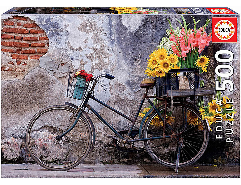 Educa Puzzle Bicycle with flowers 500Teile
