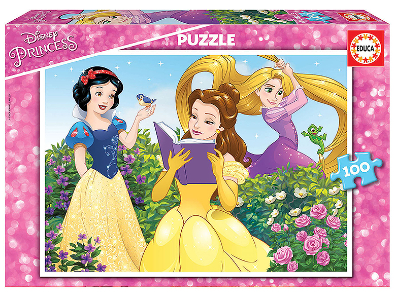 educa puzzle disney princess 100teile puzzle 24 104 teile. Black Bedroom Furniture Sets. Home Design Ideas