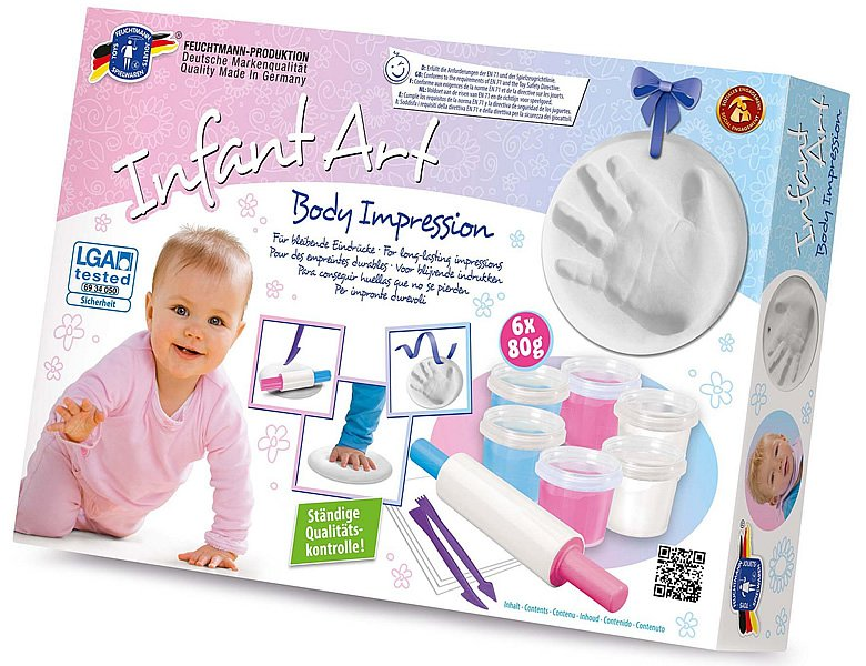 Feuchtmann Infant Art Body Impression 480g | Kneten & Formen
