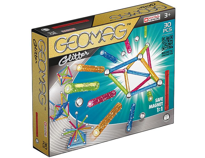 Geomag Kids Color Glitter 30Teile | Magnet-Baukasten